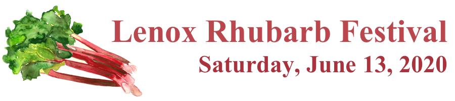 Lenox Rhubarb Festival Logo